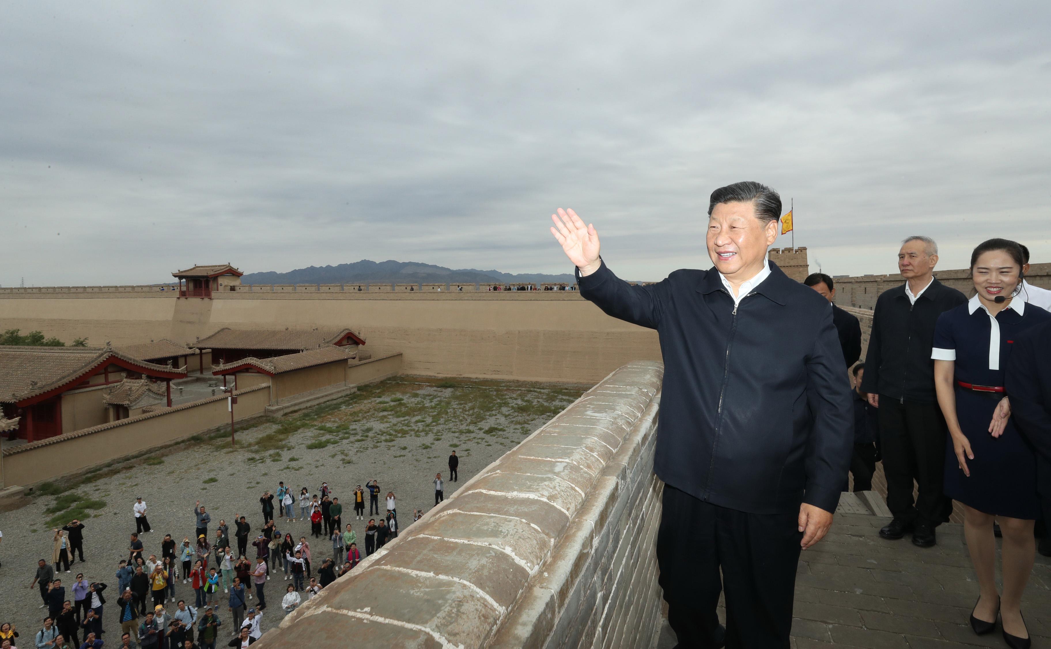 President Xi visits Jiayu Pass