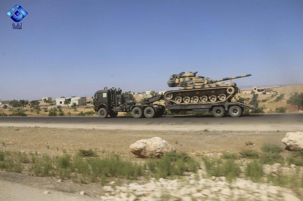 Turkey says airstrikes target Turkish army convoy in Syria