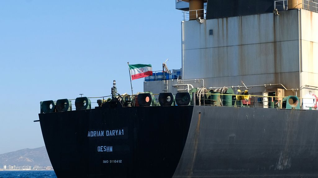 Iran tanker in standoff with West heads to Greece, Iran warns US