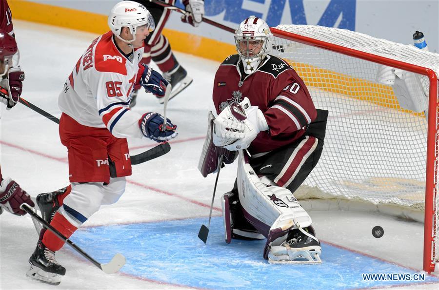 Ice hockey: Dinamo Riga vs. Yaroslavl Lokomotiv
