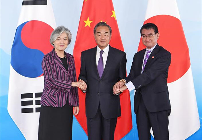China, Japan, ROK FMs meet in Beijing
