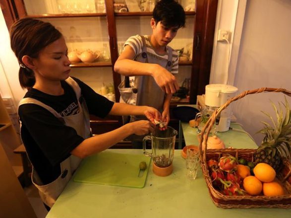 Pic story: sign language book cafe in Yangon, Myanmar