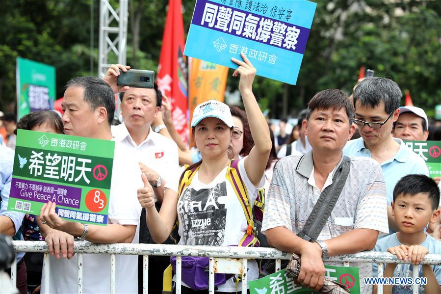 Experts urge stop of violence in Hong Kong, denounce external forces