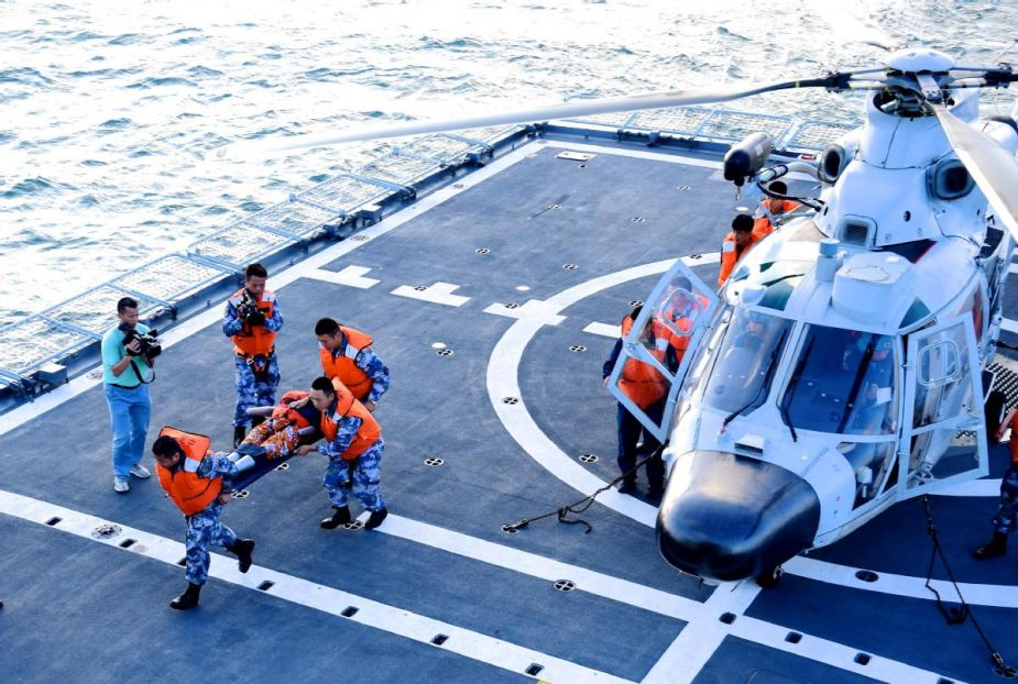 China develops first maritime medical aid simulation training system