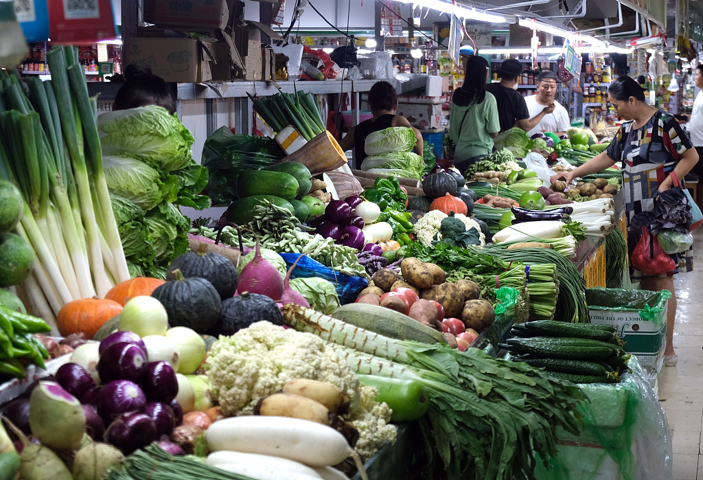 China Shouguang vegetable price index down 2.1 pct