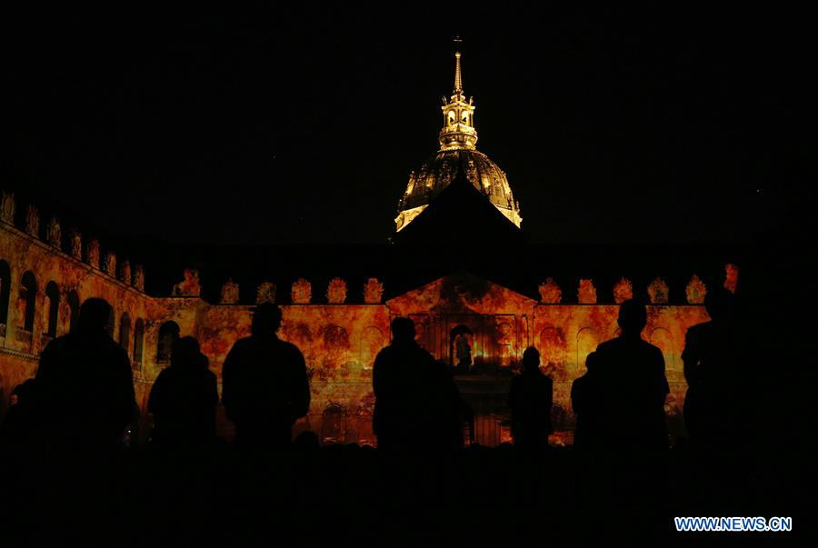 Light show 'The Night of Invalides' held in Paris