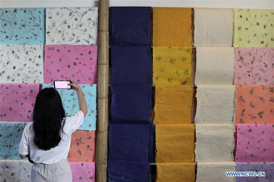 Intangible cultural heritages open for public during cultural creation festival in SW China