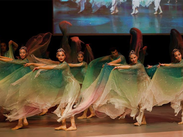 Artists perform Chinese dance drama in Stockholm, Sweden