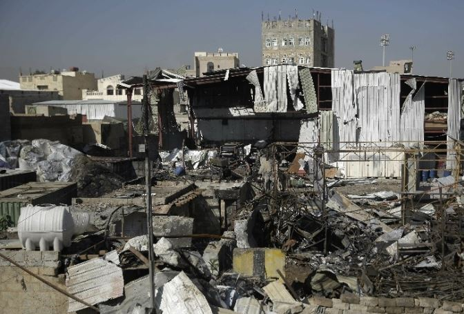 Saudi-led coalition airstrikes hit military camps in Yemen's capital