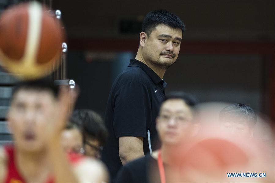Chinese men's basketball team holds training session in Wuhan