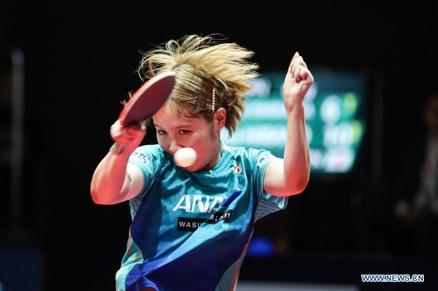 Highlights of women's singles semifinal match at 2019 ITTF Czech Open