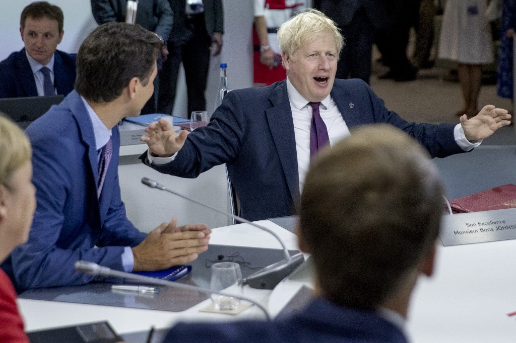 Boris Johnson says a Brexit deal is now 'touch and go'
