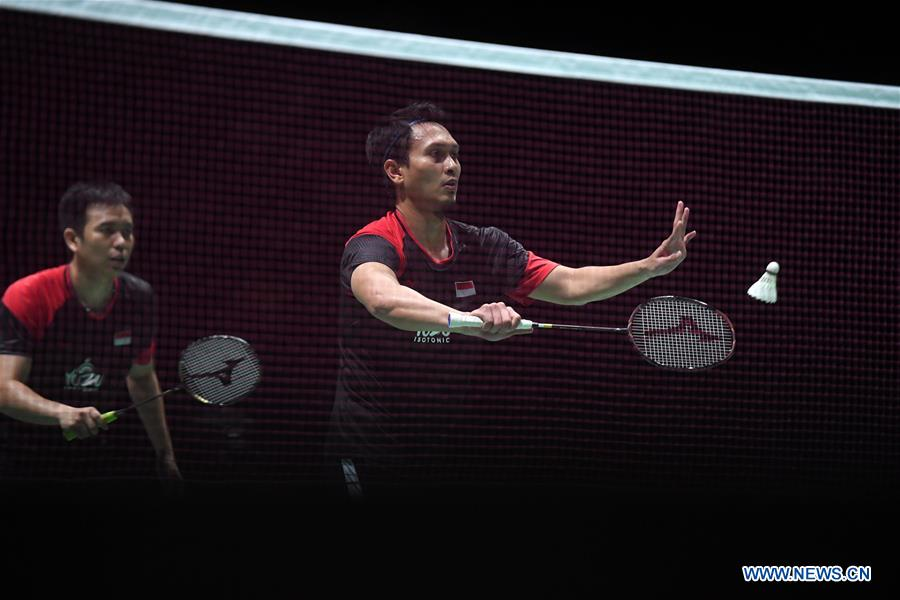 Indonesia claims men's doubles title at badminton worlds