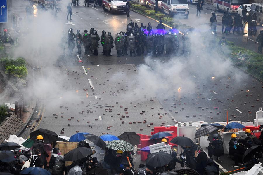 HK police: Sunday violence overstepped bounds of society