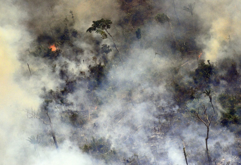 More fires flare up in Amazon as Brazil warplanes fight blazes