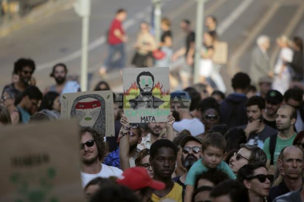 Hundreds of Portuguese demonstrate in Lisbon for Amazon rainforest protection
