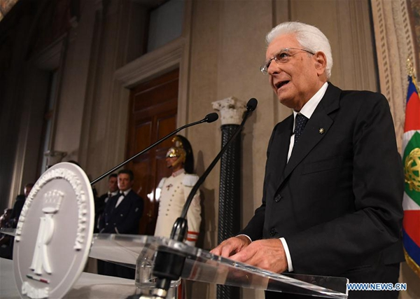 Italy's president to open new round of talks on gov't crisis