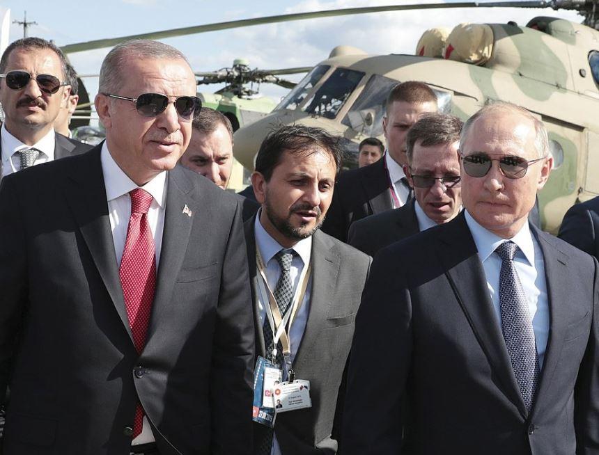 Turkey's Erdogan visits Russian air show as Putin's guest