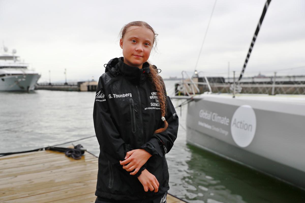 Swedish teen activist sails across Atlantic for UN climate meeting