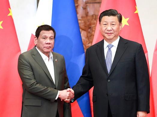 Xi meets with Philippine President Rodrigo Duterte
