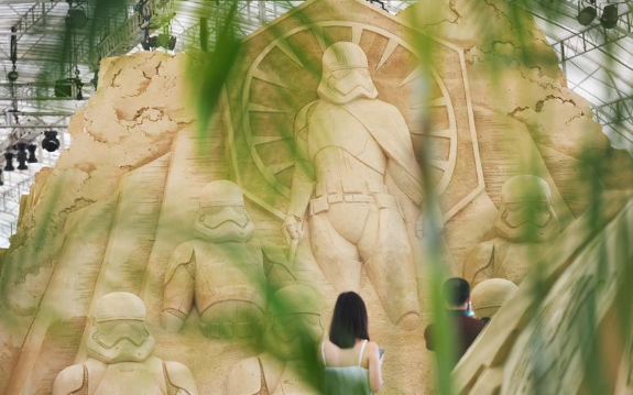 Visitors attend preview of Sentosa Sandsation in Singapore