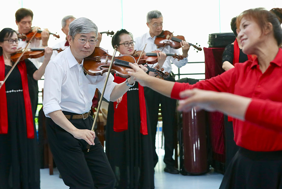 Shanghai center for the elderly continues to develop