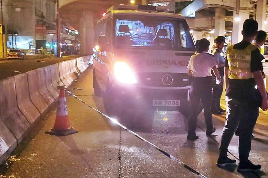 Hong Kong police condemn knife attack on off-duty officer