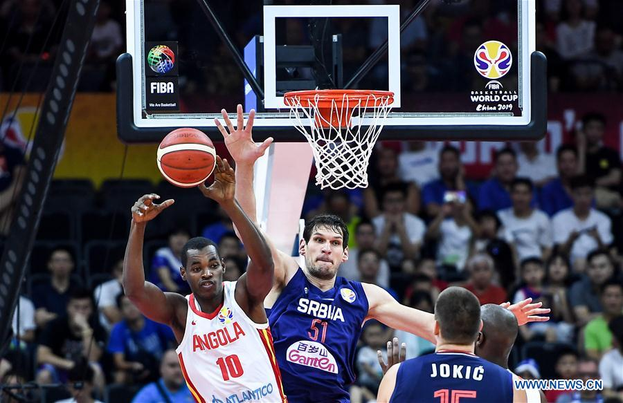 FIBA Basketball World Cup 2019: group D between Angola, Serbia