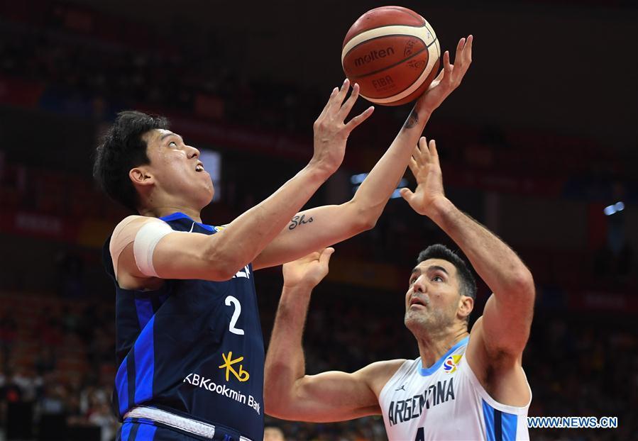 2019 FIBA World Cup: group B match between South Korea, Argentina