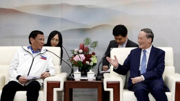Wang Qishan: Duterte's China visit new chapter in bilateral ties
