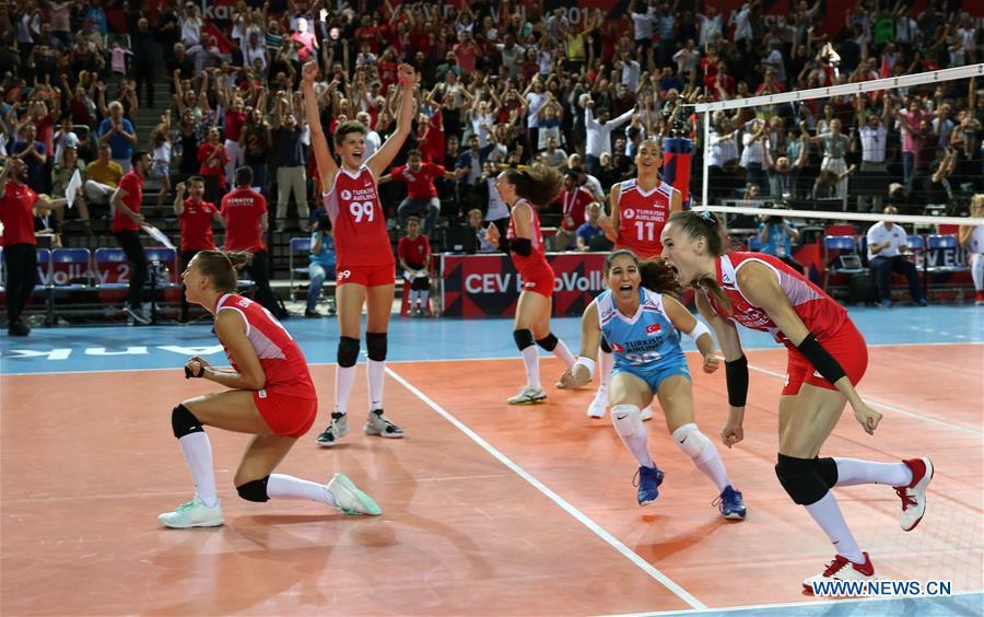 2019 Women's Volleyball European Championship final: Turkey vs. Croatia