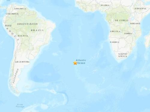 5.9-magnitude quake hits Northern Mid-Atlantic Ridge: USGS