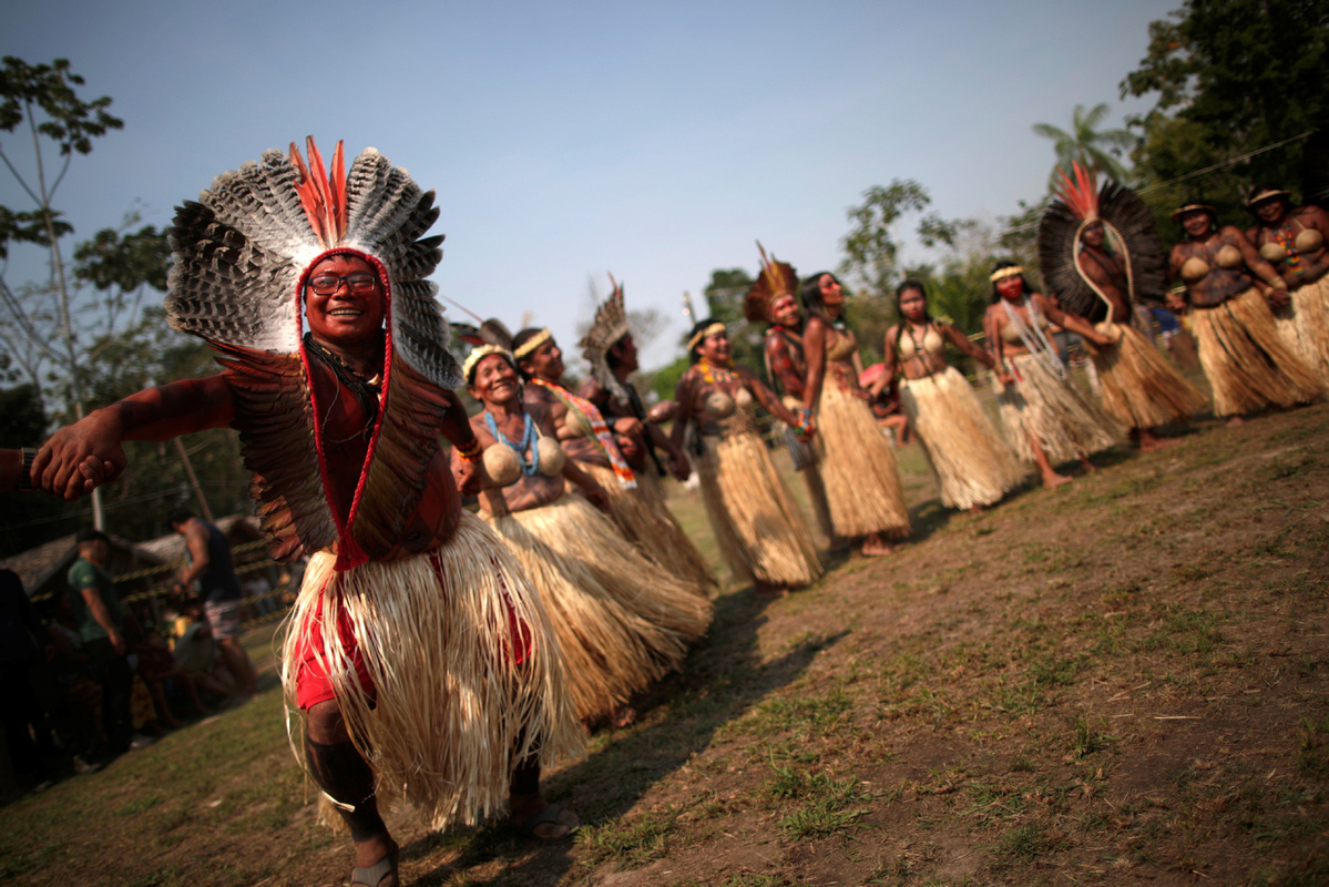 Indigenous people pray for protection