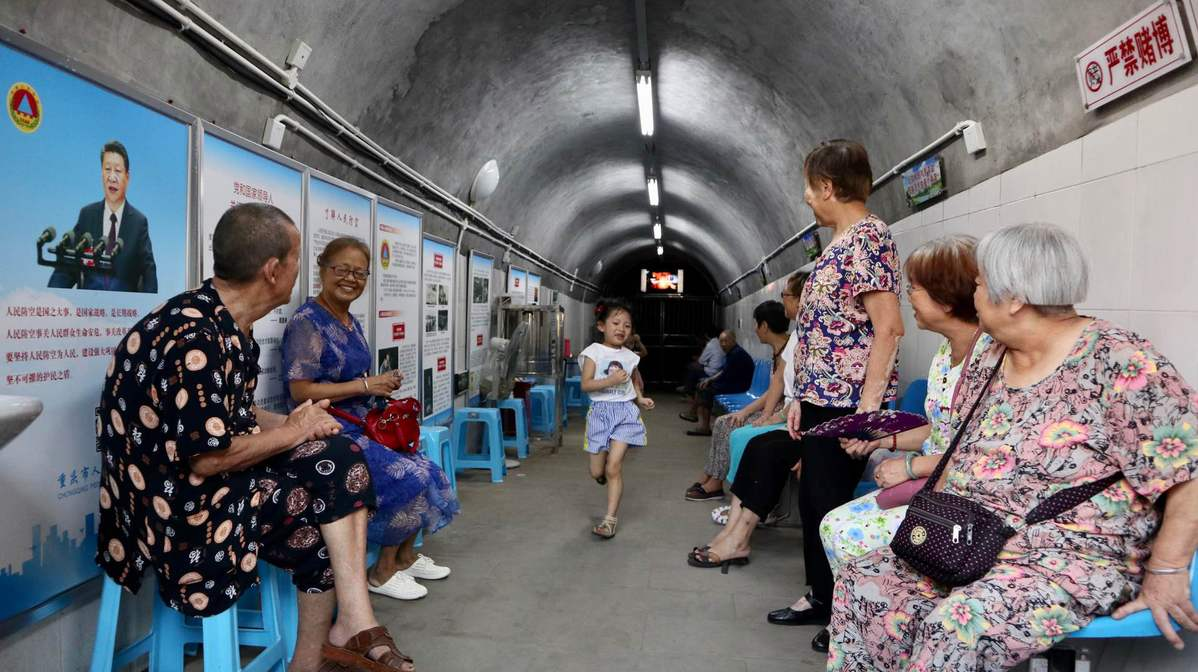 Air-raid shelters take on new life in Chongqing