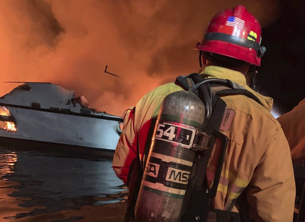 Authorities recover 4 bodies near California dive-boat fire
