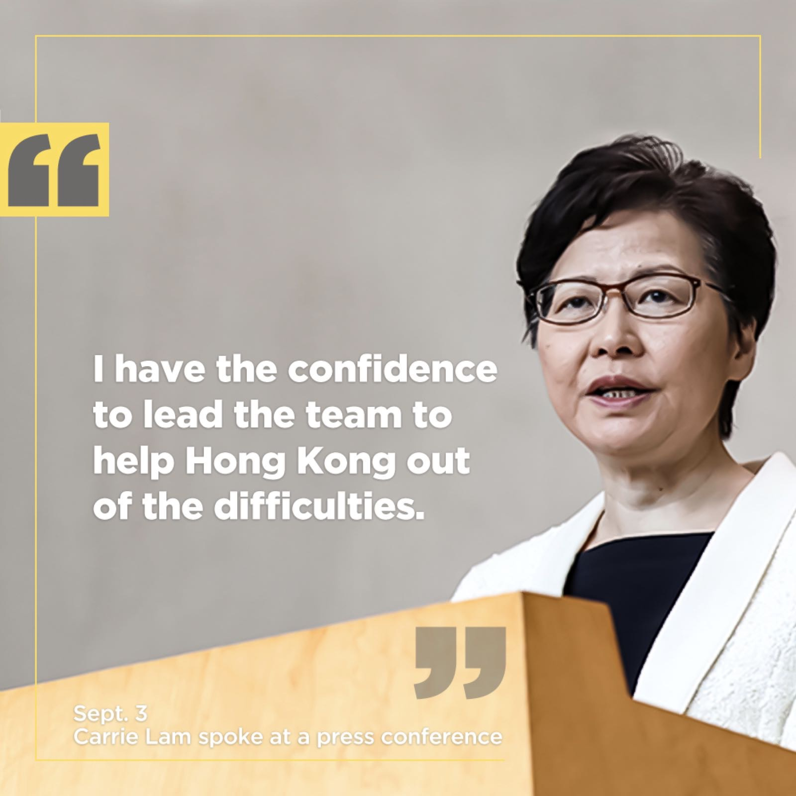 Highlights of Carrie Lam's press conference
