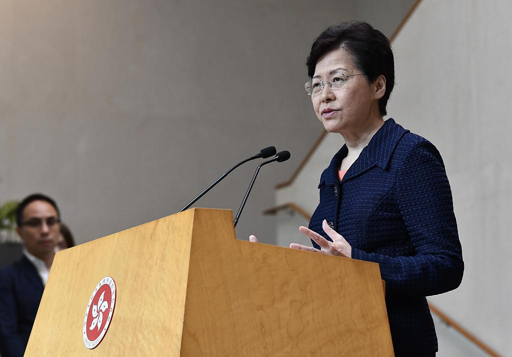 HKSAR chief executive says never tenders resignation to central government