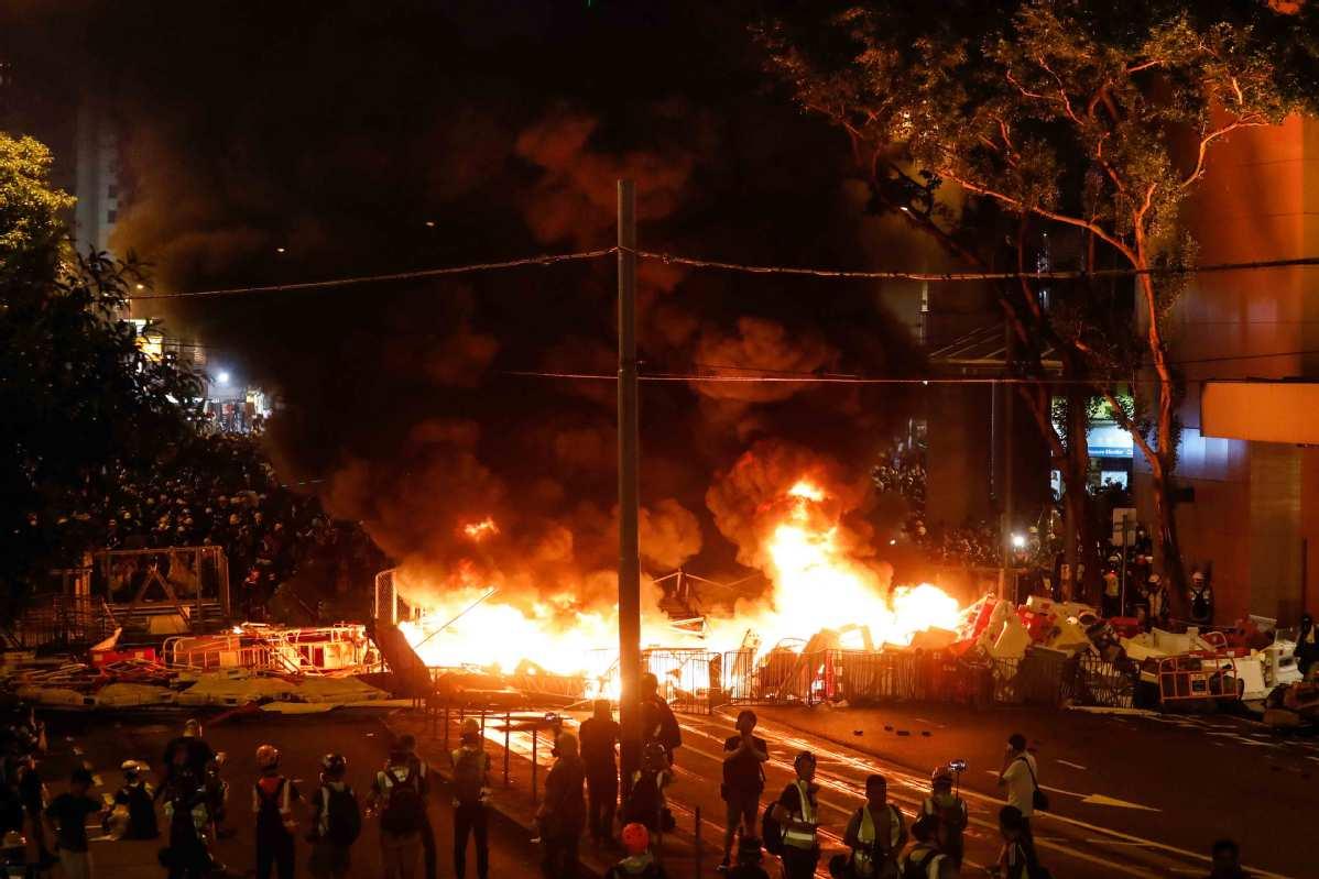 No hesitation to stop riots in Hong Kong