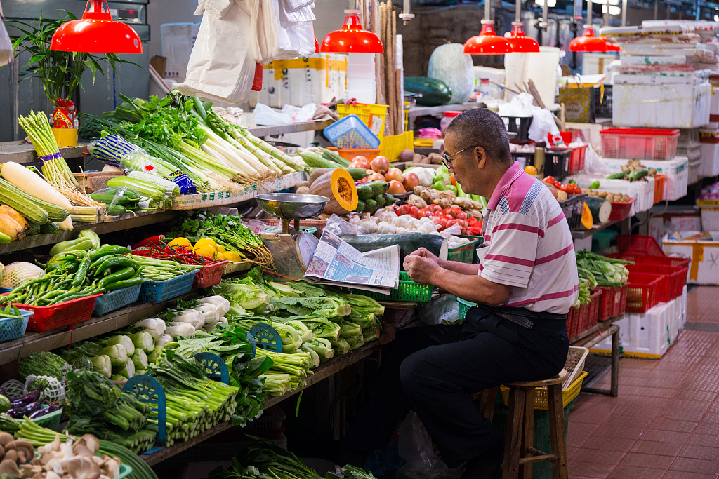 China Shouguang vegetable price index up 0.26 pct