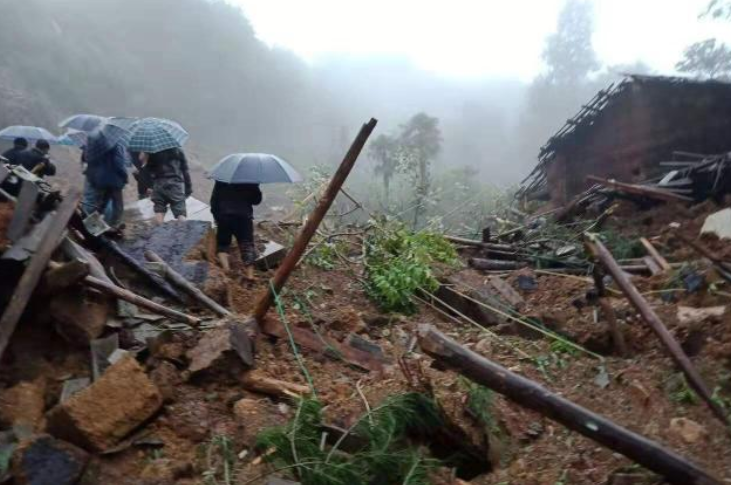 Southwest China landslide kills 9