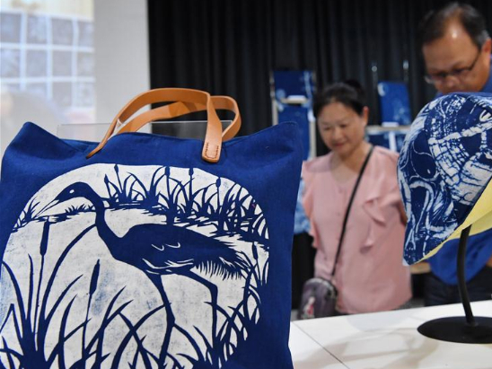 Printing, dyeing art exhibition held in Yilan County, China's Taiwan