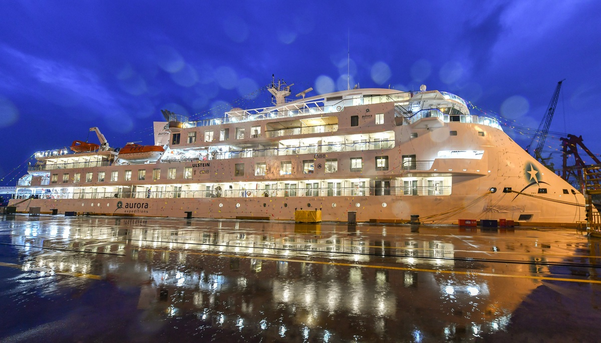First Chinese-made polar cruise ship handed to US company