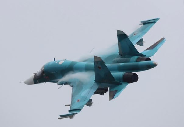 Two Russian Su-34 jets collide during training flight