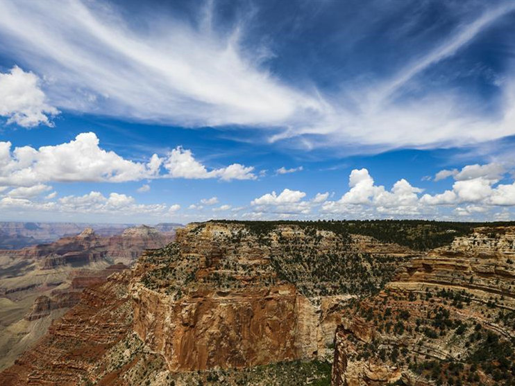 Scenery of Grand Canyon in US