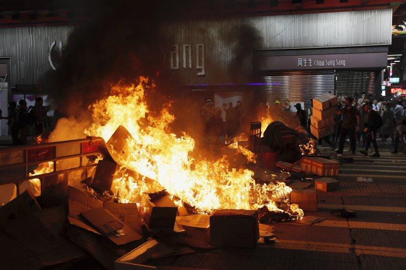HK condemns violence, vandalism
