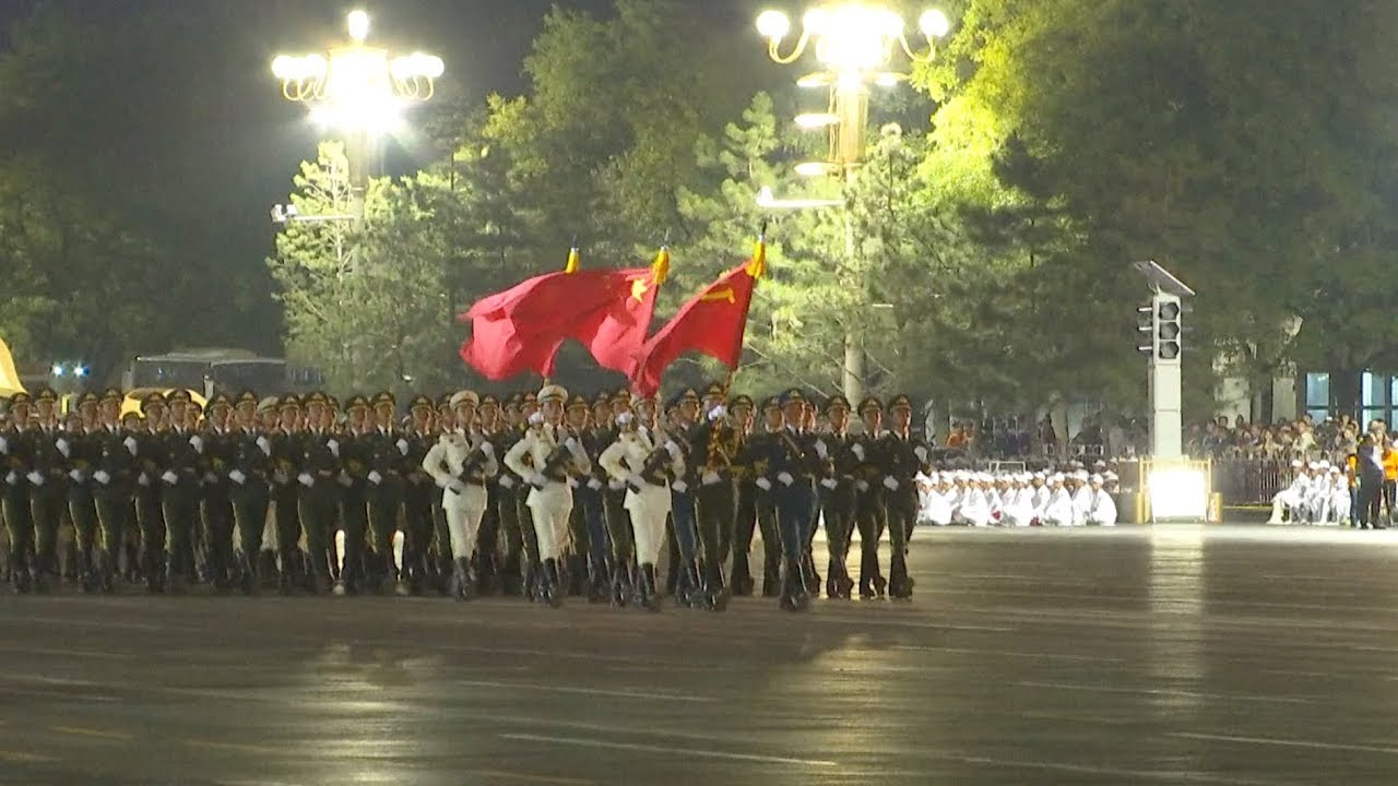 First rehearsal for China National Day celebrations ends