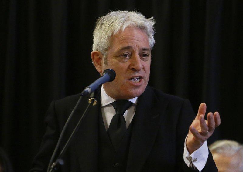 British Commons Speaker Bercow to resign