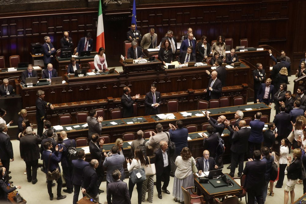 Italy's Conte wins first confidence vote in Parliament
