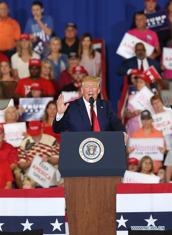 Donald Trump participates in campaign rally in North Carolina