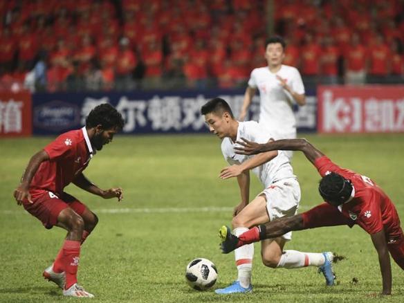 China crush Maldives 5-0